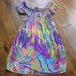 Summer Babydoll Ruched Colourful Dress
